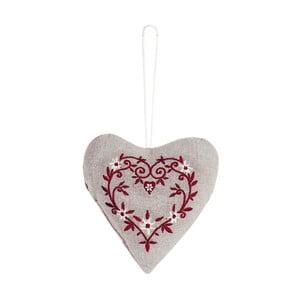 Závěsná dekorace Antic Line Textil Red Heart