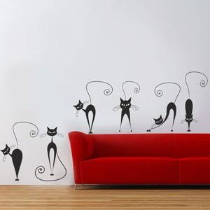 Samolepka na zeď Kočky, 90x60 cm