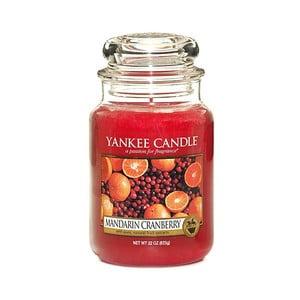 Vonná svíčka Yankee Candle Mandarinky s Brusinkou, doba hoření 110 - 150 hodin