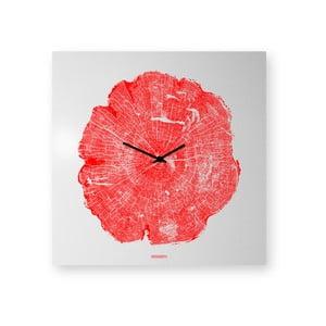 Nástěnné hodiny dESIGNoBJECT.it Life Red,50x50cm