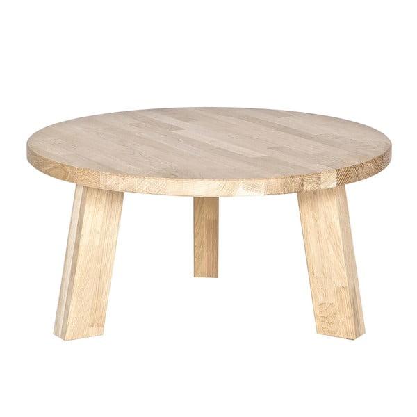 Konferenční stolek z dubového dřeva De Eekhoorn Rhonda, Ø50cm
