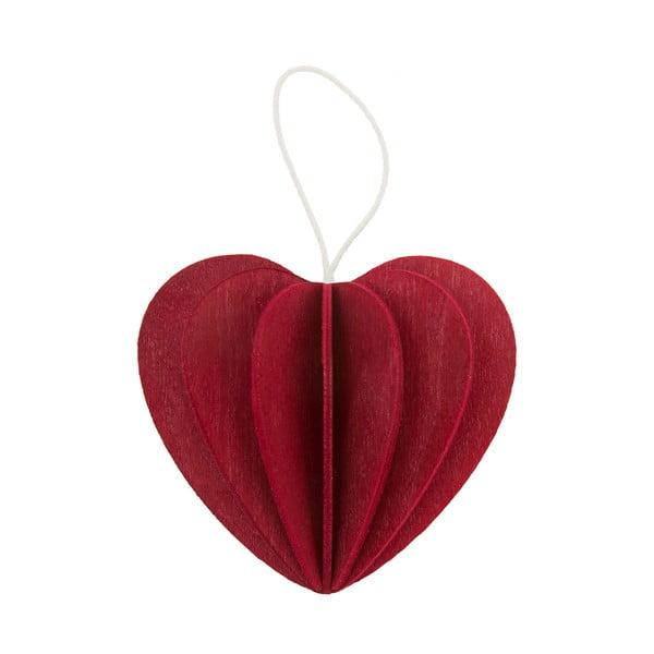 Skládací pohlednice Heart Dark Red, 4.5 cm