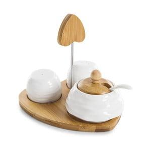 Set solniță și piperniță cu zaharniță Bambum Salter