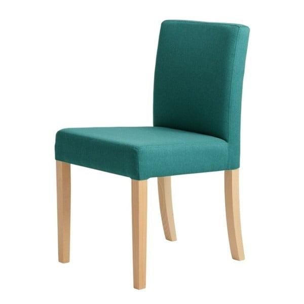 Tyrkysová židle s přírodními nohami Custom Form Wilton