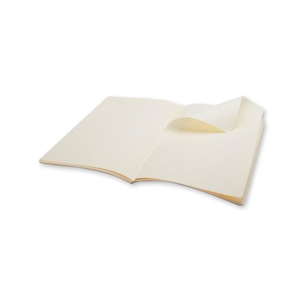 Sada 2 notesů Moleskine White, linkované 13x21 cm