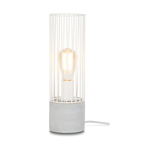Bílá stolní lampa s betonovým podstavcem Citylights Memphis