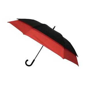 Větruodolný černo-červený deštník pro dvě osoby Ambiance Framed, ⌀128cm