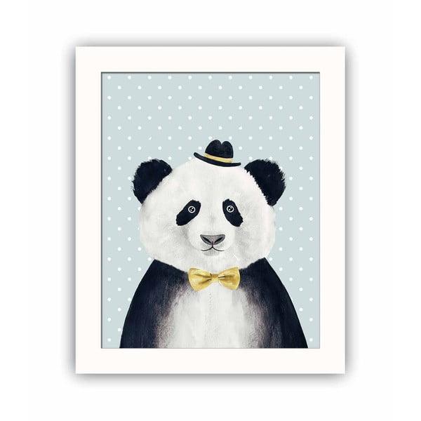 Panda dekoratív kép, 28,5 x 23,5 cm