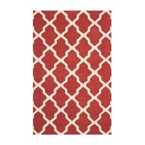 Vlněný koberec Safavieh Ava Red, 274 x 182 cm