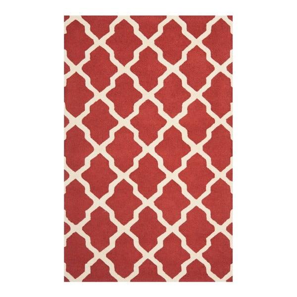 Vlněný koberec Ava Red, 182x274 cm