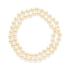 Perlový náhrdelník Mystic Light Orange, 80 cm