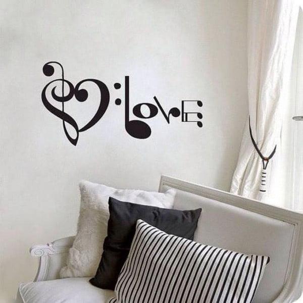 Music Love dekoratív falmatrica