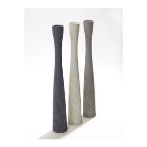 Sada 3 váz Silhouette Grey, 40 cm