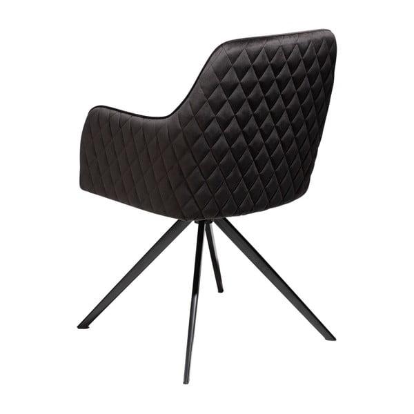 Černá jídelní židle s područkami DAN–FORM Denmark Twine Velvet