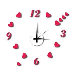 Nástěnné samolepicí hodiny Mauro Ferretti Hearts, ⌀50cm