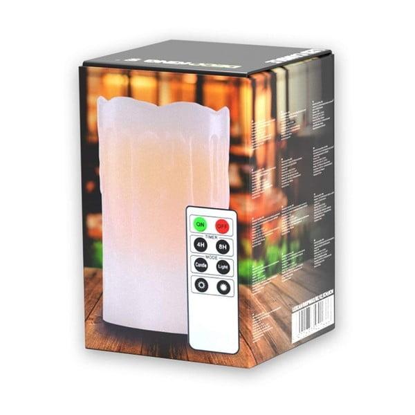 Subtle Sweet gyertya formájú lámpa távirányítóval, magasság 12,5 cm - DecoKing