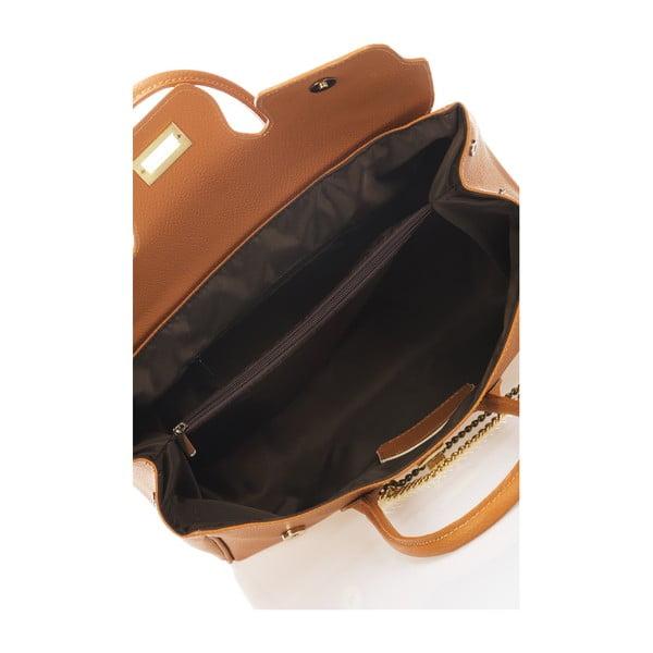 Kožená kabelka Jeanie, koňaková