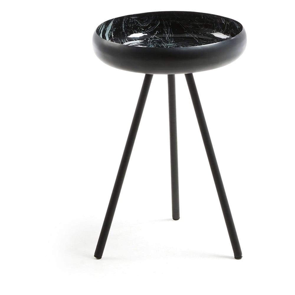 Černý kulatý konferenční stolek La Forma Reuber