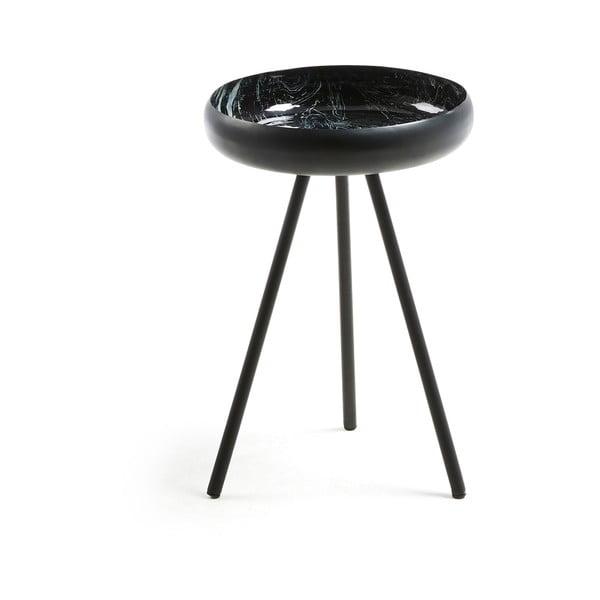 Černý odkládací stolek La Forma Reuber, ø36cm