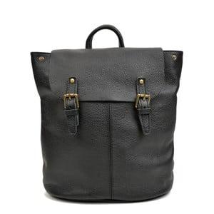 Černý kožený batoh Roberta M Misco