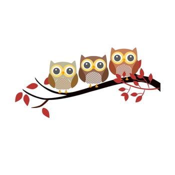 Autocolant din vinil pentru perete Happy Owls de la Unknown