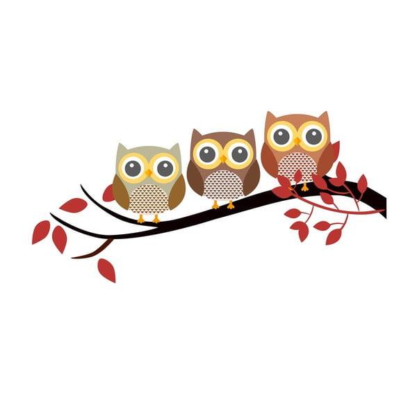Vinylová nástěnná samolepka Happy Owls
