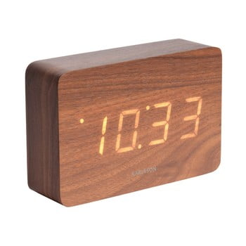Ceas alarmă, decor lemn, Karlsson Cube, 15 x 10 cm imagine