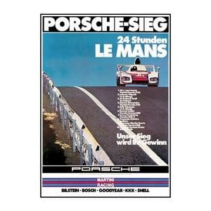Plakát Porsche Le Mans 1976, 70x50 cm