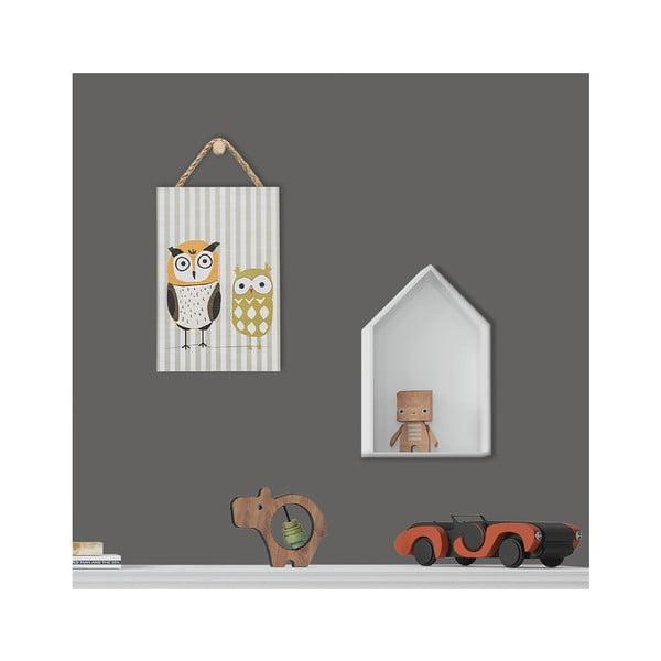 Nástěnná dekorace s motivem sovičky KICOTI, 20 x 30 cm
