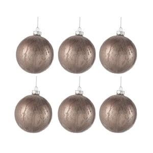Sada 6 skleněných vánočních ozdob J-Line Anneli, ⌀ 8cm