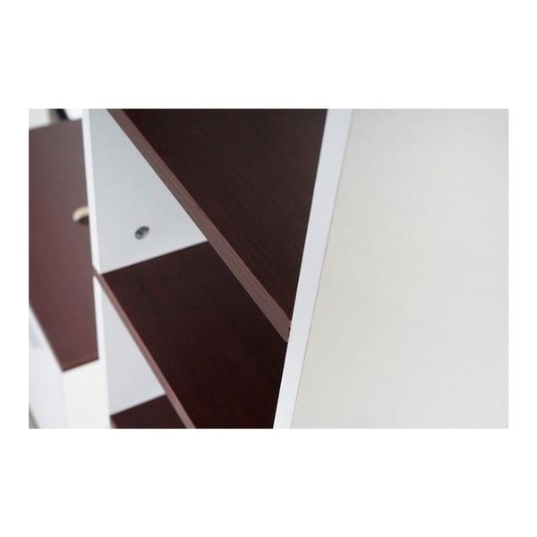Koupelnová skříňka Sonoma White/Brown, 31,5x179 cm