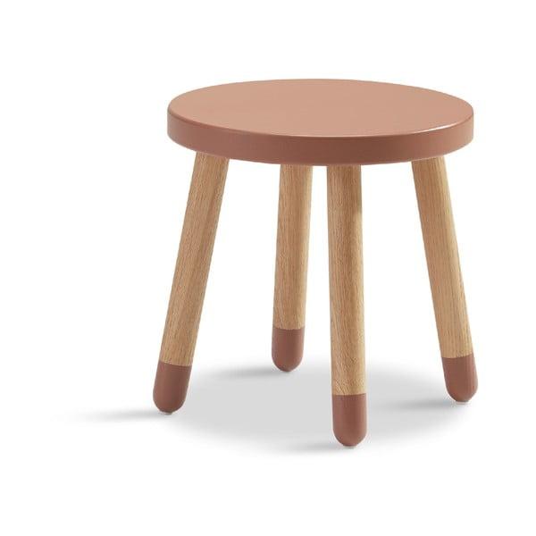Różowy stołek dziecięcy Flexa Play, ø 30 cm