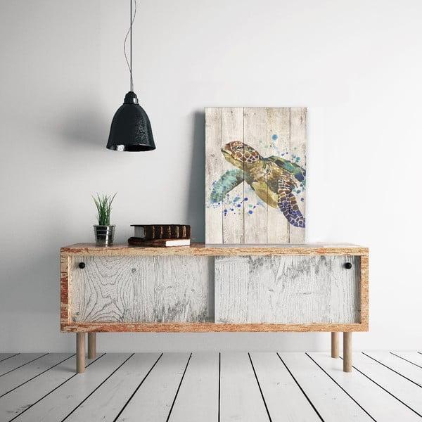 Obraz na dřevě Little Nice Things Turtle, 60 x 40 cm