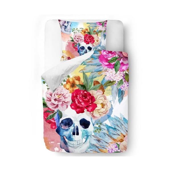 Povlečení Skull in Flowers, 140x200 cm