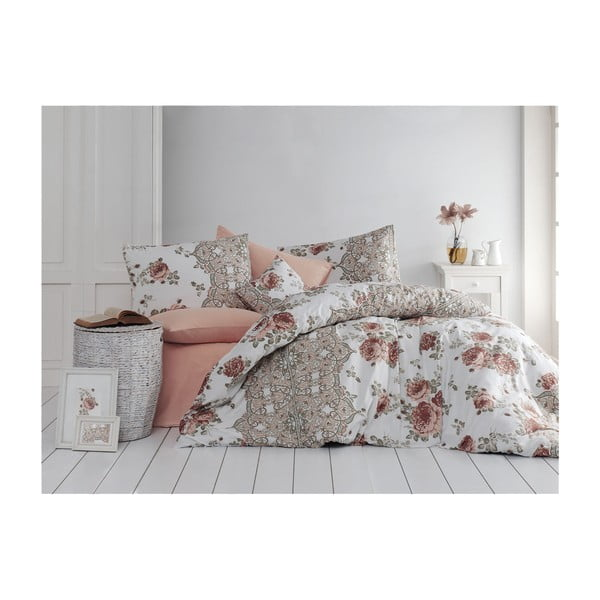 Lenjerie pentru pat de o persoană Flowers, 140 x 200 cm