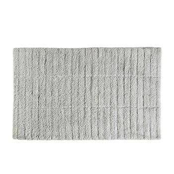 Covor baie din bumbac Zone Tiles, 50 x 80 cm, gri deschis imagine