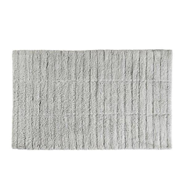Světle šedá bavlněná koupelnová předložka Zone Tiles, 50 x 80 cm