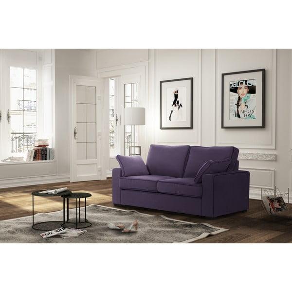 Dvoumístná pohovka Jalouse Maison Serena, fialová