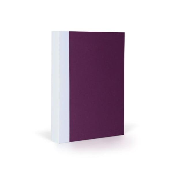 Zápisník FANTASTICPAPER A6 Aubergine/White, čtverečkový