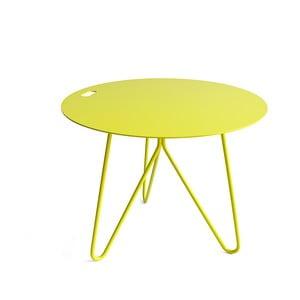 Žlutý odkládací stolek Galula Seis