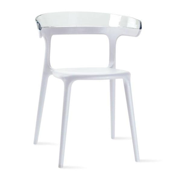Židle Luna, white/clear