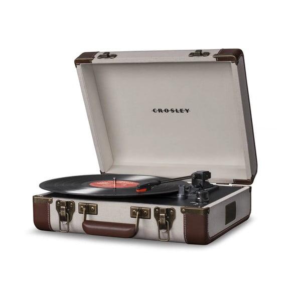 Beżowo-brązowy gramofon Crosley Cruiser Executive