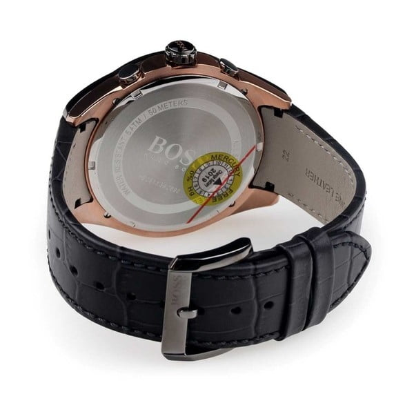 Pánské hodinky s koženým řemínkem Hugo Boss Octavio