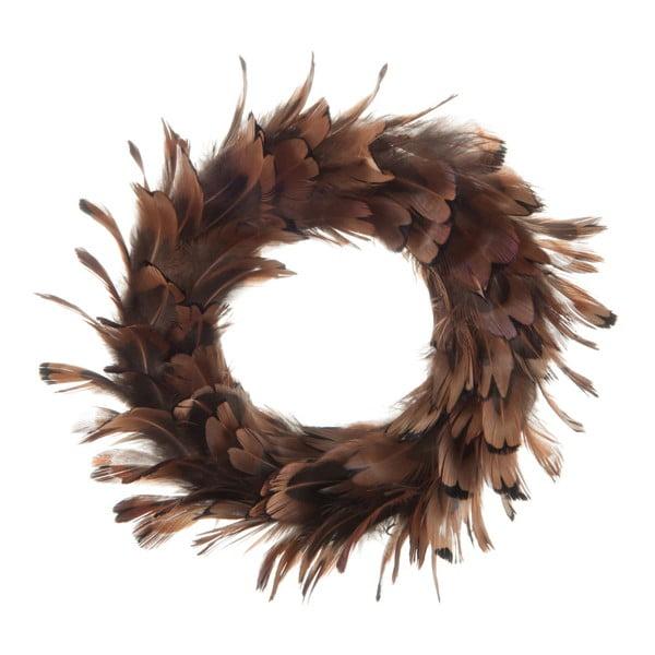 Dekorace na stůl J-Line Feathers Wreah