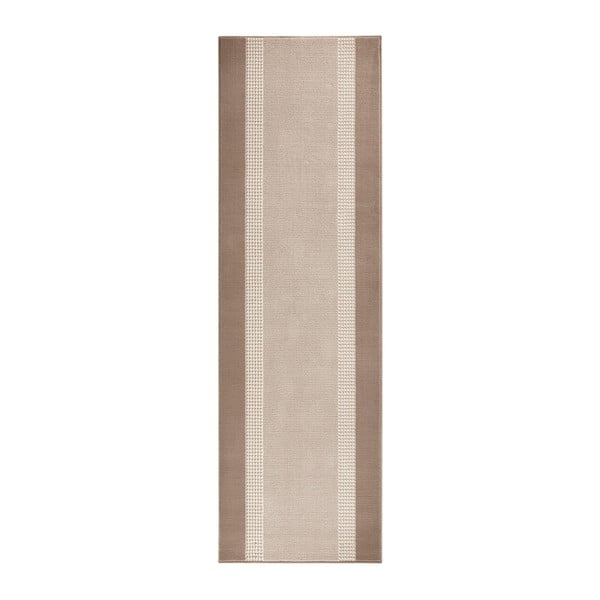Béžový běhoun Hanse Home Monica, 80x400 cm