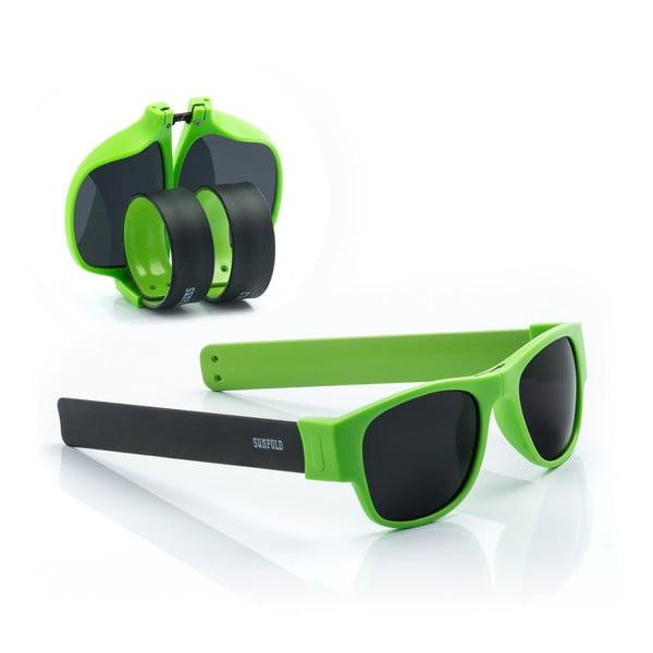 Ochelari de soare pliabili InnovaGoods Sunfold AC6, verde - negru