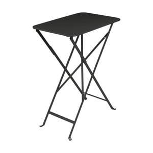 Černý zahradní stolek Fermob Bistro, 37 x 57 cm