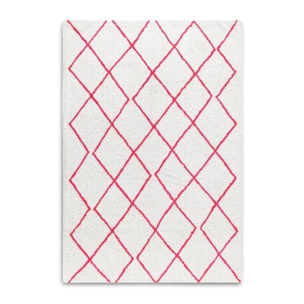 Czerwono-biały dywan z bawełny HF Living Morocco, 120x170 cm