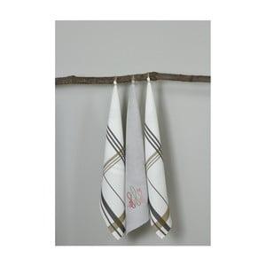 Sada 3 kuchyňských utěrek My Home Plus Fork, 50 x 70 cm