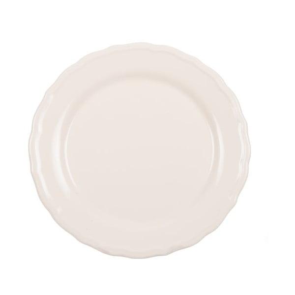Sada 18 ks keramických talířů Bologne White
